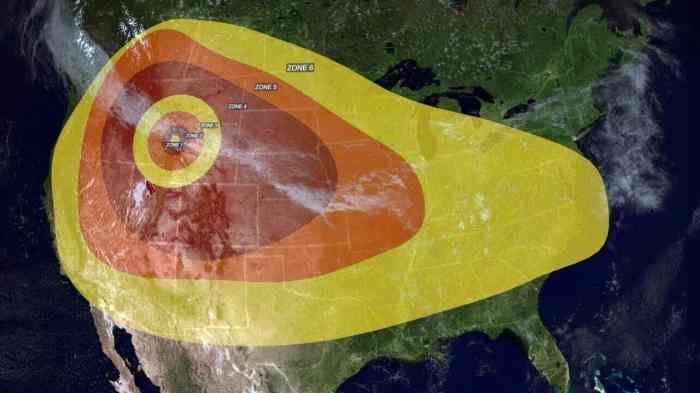 Yellowstone Eruption Danger Zones